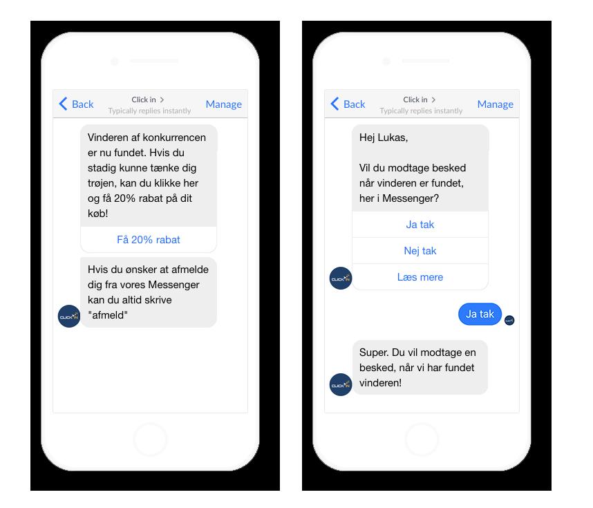 Chatbot tilmeldinger